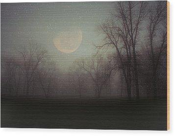 Moonlit Dreams Wood Print by Inspired Arts