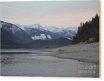Wood Print featuring the photograph Snowy Mountains by Victor K