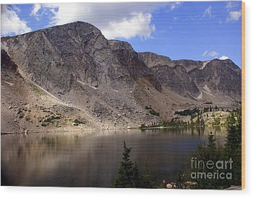 Snowy Mountian Loop 8 Wood Print by Marty Koch