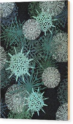 Snowy Night Wood Print by AugenWerk Susann Serfezi