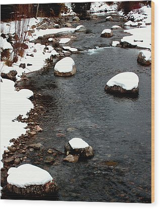 Snowy River Wood Print by The Forests Edge Photography - Diane Sandoval