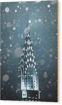Snowy Spires Wood Print
