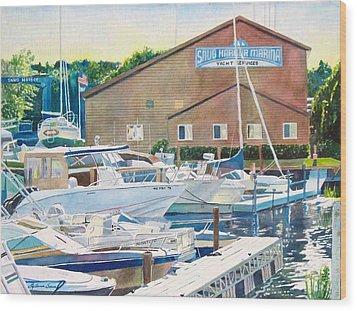 Snug Harbor II Wood Print by LeAnne Sowa