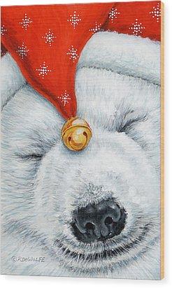 Snuggy Bear Wood Print by Richard De Wolfe