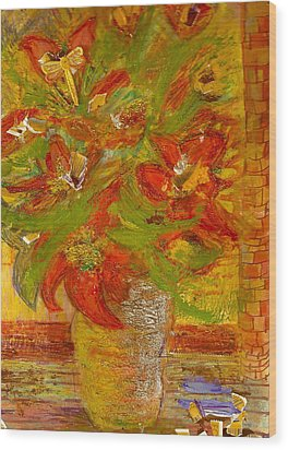 So Bright Wood Print by Anne-Elizabeth Whiteway