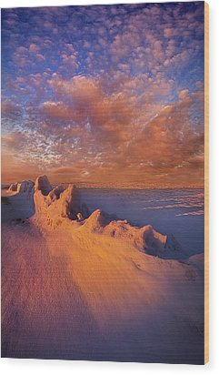 Wood Print featuring the photograph So It Begins by Phil Koch