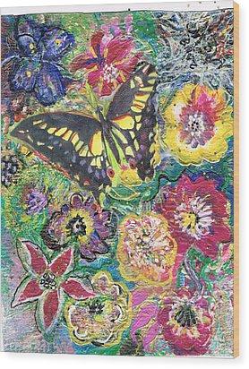 So Many Flowers So Little Time Wood Print by Anne-Elizabeth Whiteway