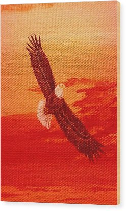 Wood Print featuring the painting Soaring by Katherine Young-Beck