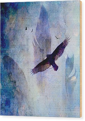 Soaring Wood Print by Lisa Noneman
