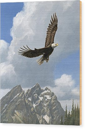 Soaring Wood Print