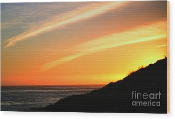 Socal Sunet Wood Print by Clayton Bruster