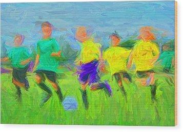 Soccer 3 Wood Print