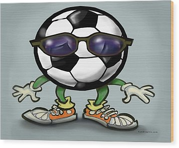 Soccer Cool Wood Print by Kevin Middleton