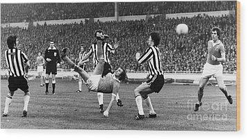 Soccer Match, 1976 Wood Print by Granger