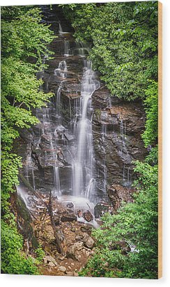 Wood Print featuring the photograph Socco Falls by Stephen Stookey