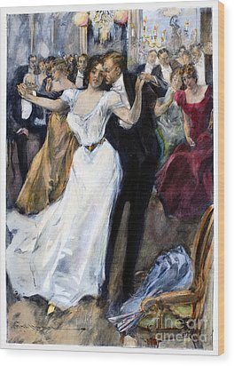 Society Ball, C1900 Wood Print by Granger