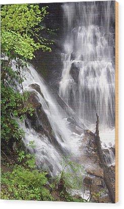 Soco Falls 2 Wood Print by Marty Koch