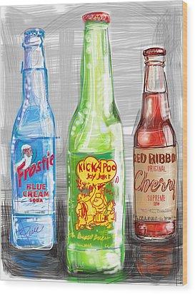 Soda Pops Wood Print by Russell Pierce