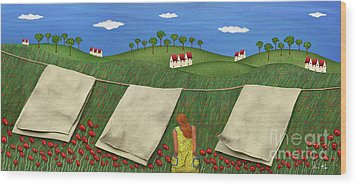 Soft Breeze Wood Print by Anne Klar