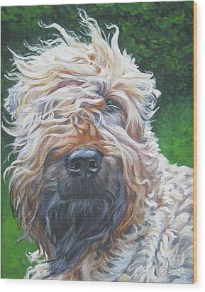 Soft Coated Wheaten Terrier Wood Print