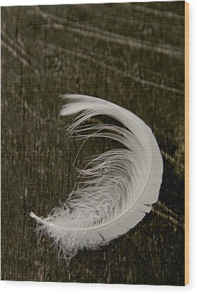 Soft Curve Two Wood Print by Odd Jeppesen