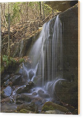 Wood Print featuring the photograph Soft Falls by Alan Raasch