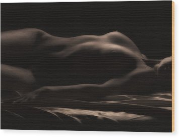 Soft Glow Wood Print by Naman Imagery