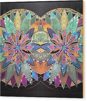 Soft Mandala Wood Print