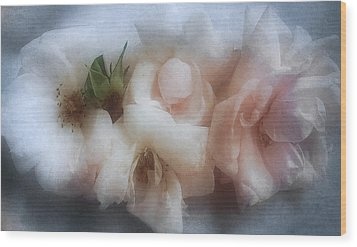 Wood Print featuring the photograph Soft Pink Roses by Louise Kumpf