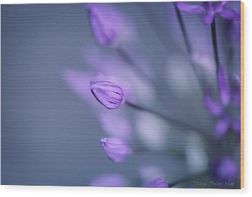 Soft Purple Wood Print