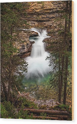 Wood Print featuring the photograph Soft Smooth Waterfall by Darcy Michaelchuk