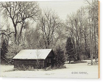 Wood Print featuring the photograph Soft Snow Cover by Don Durfee