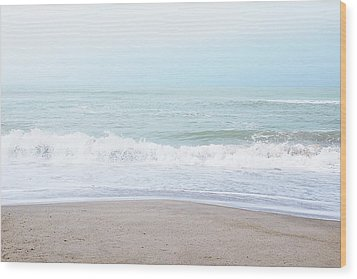 Wood Print featuring the mixed media Soft Waves 2- Art By Linda Woods by Linda Woods