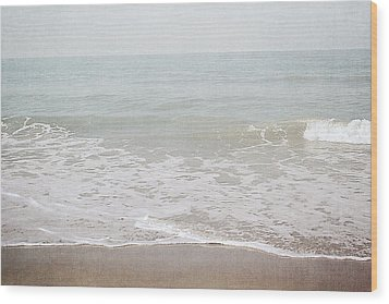 Wood Print featuring the mixed media Soft Waves- Art By Linda Woods by Linda Woods