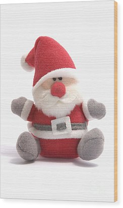 Softie Santa Wood Print by Andy Smy