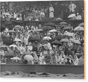 Soggy Supporters Wood Print by Ron Stone