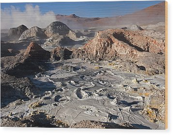Sol De Manana Geothermal Field  Wood Print