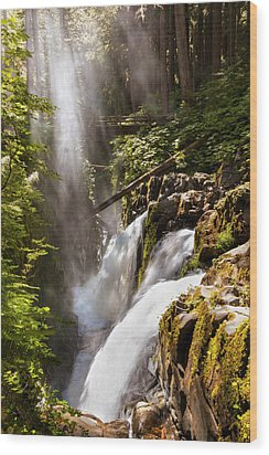 Wood Print featuring the photograph Sol Duc Falls by Adam Romanowicz