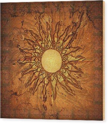 Sol Wood Print by Kenneth Armand Johnson