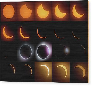 Solar Eclipse - August 21 2017 Wood Print