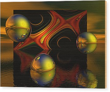 Solar Eclipse Wood Print by Sandra Bauser Digital Art