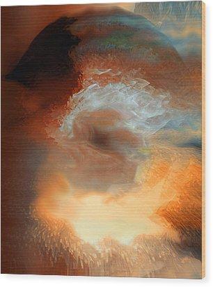 Solar Eruption Wood Print by Linda Sannuti