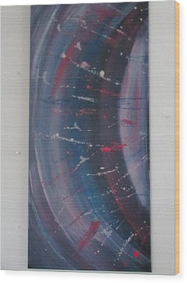Wood Print featuring the painting Solar Flare #1 by Sharyn Winters