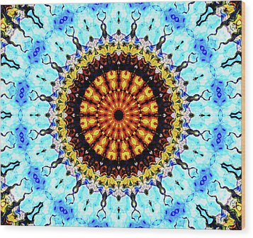Wood Print featuring the digital art Solar Flare 1 by Wendy J St Christopher