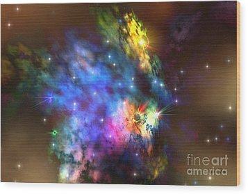 Solaris Nebula Wood Print by Corey Ford