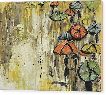 Sold Under The Weather Wood Print by Amanda  Sanford