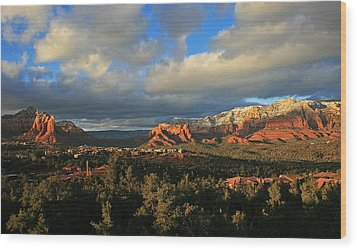 Soldier Pass Sunset Wood Print by Gary Kaylor