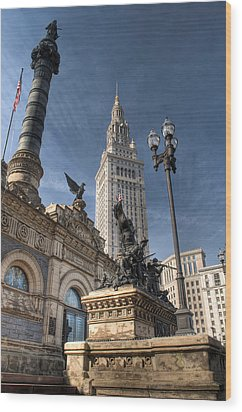 Soldiers' And Sailors' Monument Wood Print by At Lands End Photography