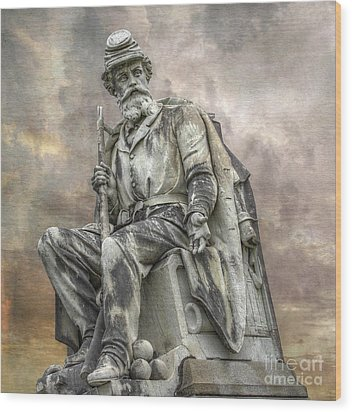 Soldiers National Monument War Statue Gettysburg Cemetery  Wood Print by Randy Steele