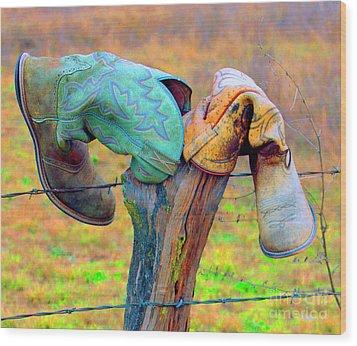 Wood Print featuring the photograph Sole Mates by Joe Jake Pratt